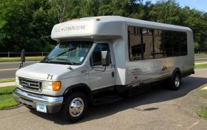 Silver Mini Bus